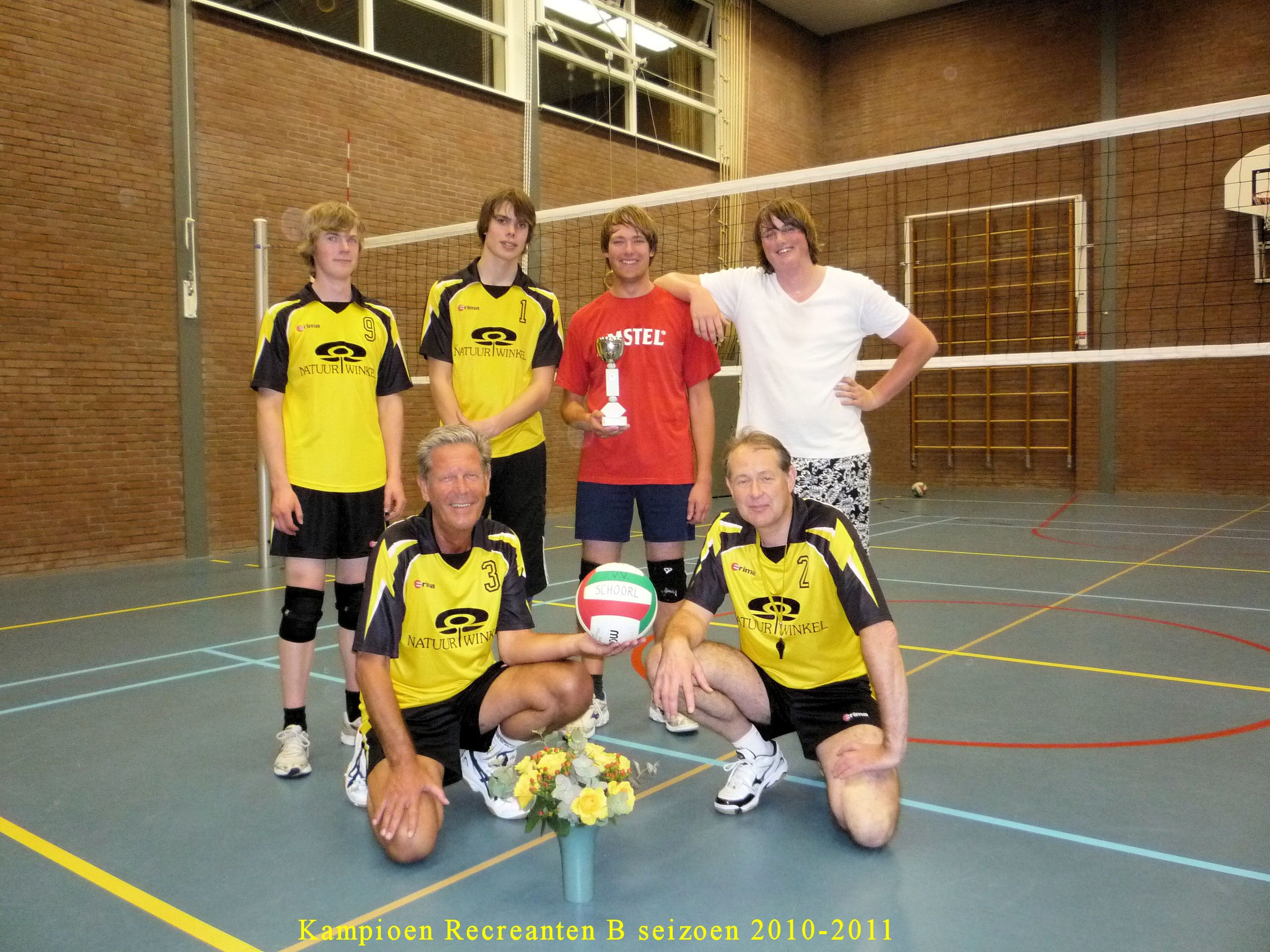volleybal Kampioen Recreanten B 2010-11
